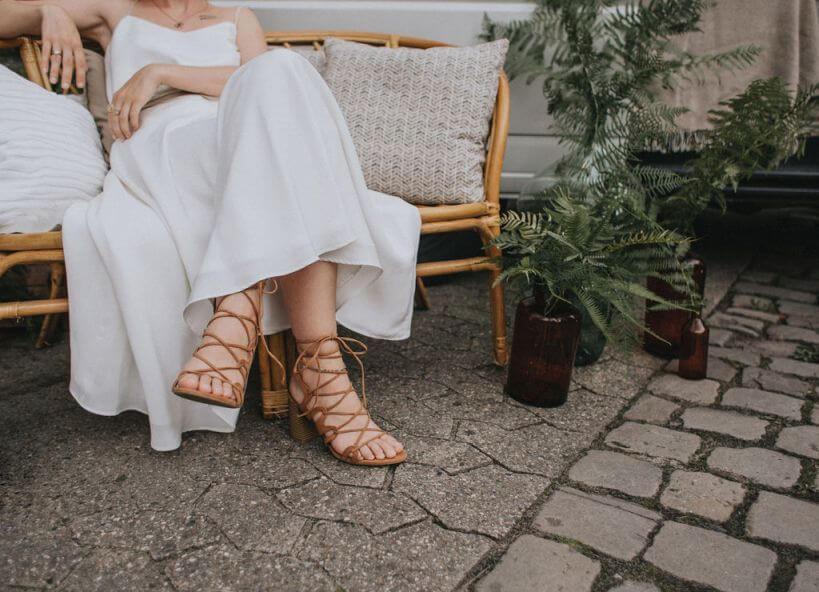 braune Brautschuhe