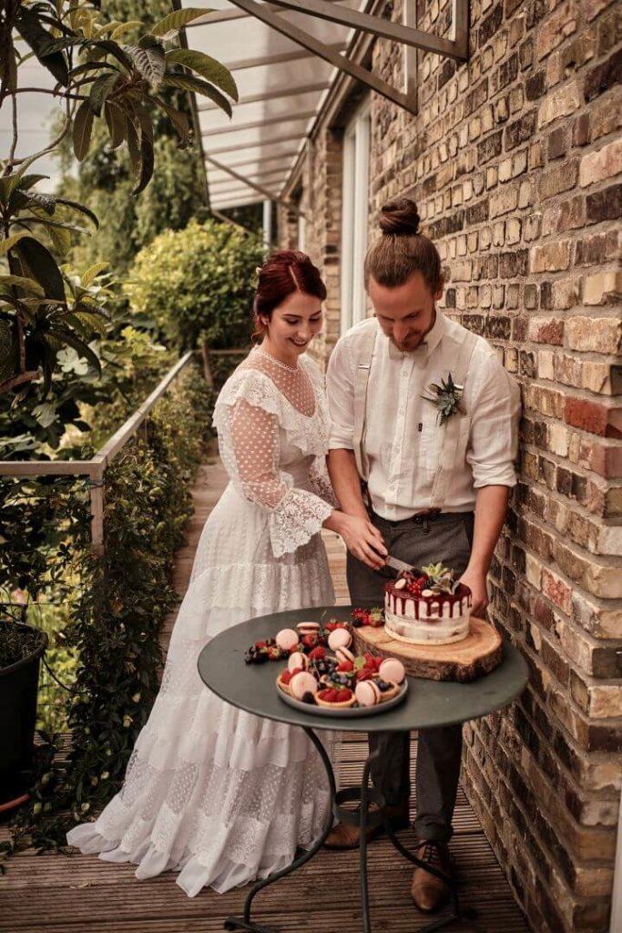 Nachhaltig Heiraten Hochzeitstorte