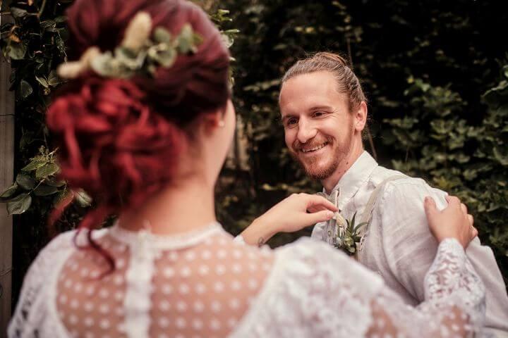 Hochzeitsfoto First Look
