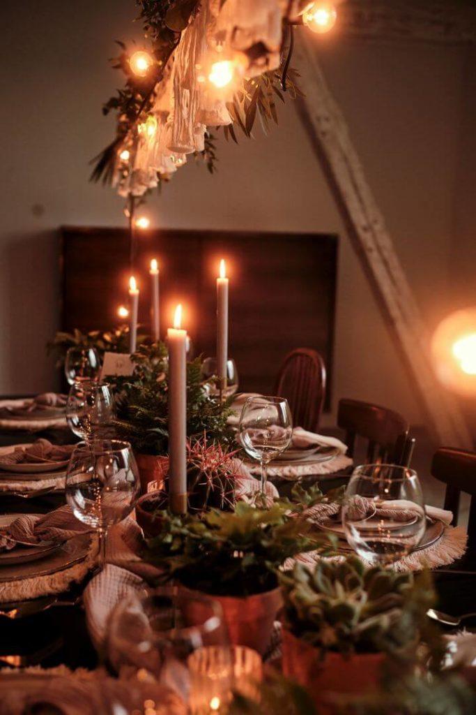 Hochzeitsinspiration Nachhaltige Tischdeko