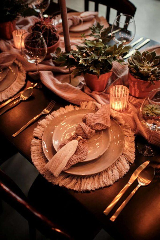 Hochzeitsinspiration Tischdekoration Vintage