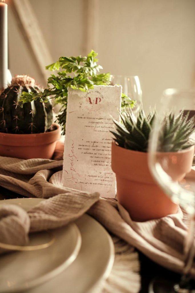 Hochzeitspapeterie Nachhaltig Heiraten